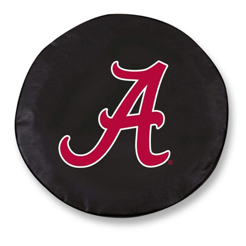 "Alabama Crimson Tide HBS Black Vinyl ""A"" Fitted Car Tire Cover"