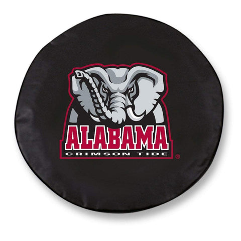 Alabama Crimson Tide HBS Black Vinyl Fitted Car Tire Cover