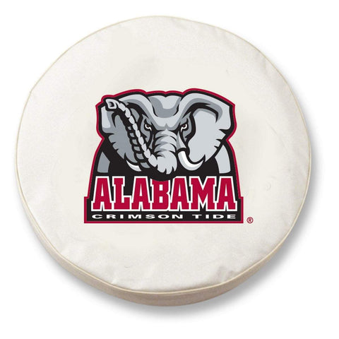 Shop Alabama Crimson Tide HBS White Vinyl Fitted Car Tire Cover