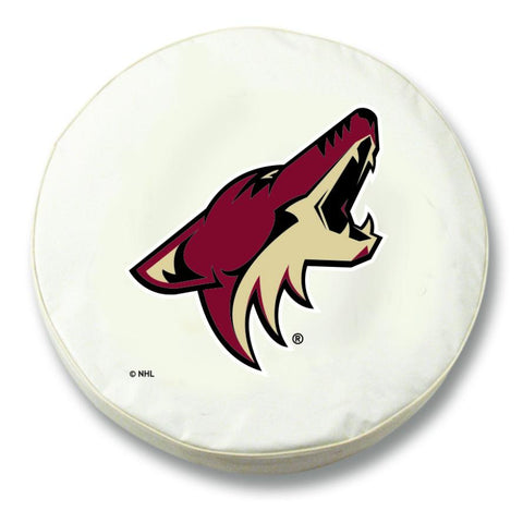 Shop Arizona Coyotes HBS White Vinyl Fitted Spare Car Tire Cover
