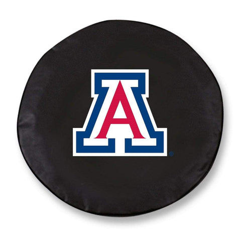 Arizona Wildcats HBS Black Vinyl Fitted Spare Car Tire Cover