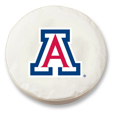 Arizona Wildcats HBS White Vinyl Fitted Spare Car Tire Cover