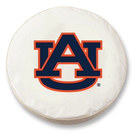 Auburn Tigers HBS White Vinyl Fitted Spare Car Tire Cover