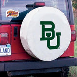 Baylor Bears HBS White Vinyl Fitted Spare Car Tire Cover