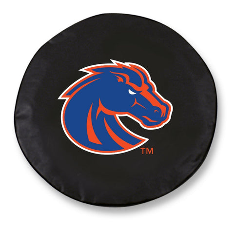 Boise State Broncos HBS Black Vinyl Fitted Spare Car Tire Cover