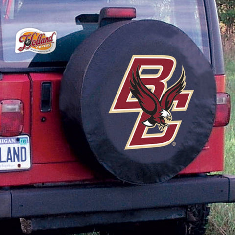 Boston College Eagles HBS Black Vinyl Fitted Car Tire Cover