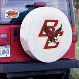 Boston College Eagles HBS White Vinyl Fitted Car Tire Cover