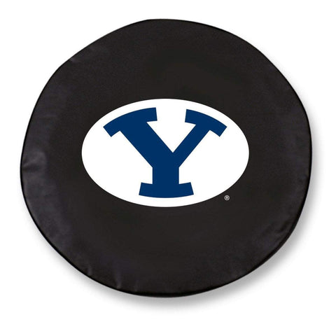 BYU Cougars HBS Black Vinyl Fitted Spare Car Tire Cover
