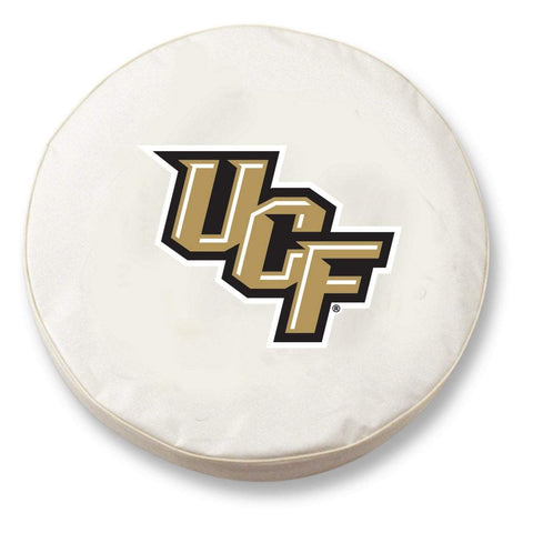UCF Knights HBS White Vinyl Fitted Spare Car Tire Cover