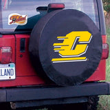 Central Michigan Chippewas HBS Black Vinyl Fitted Car Tire Cover
