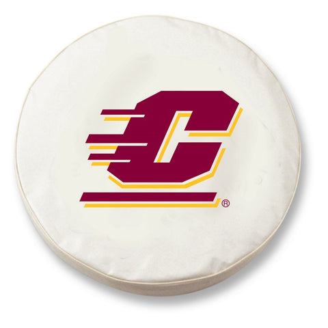 Shop Central Michigan Chippewas HBS White Vinyl Fitted Car Tire Cover - Sporting Up