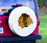 Chicago Blackhawks HBS White Vinyl Fitted Spare Car Tire Cover