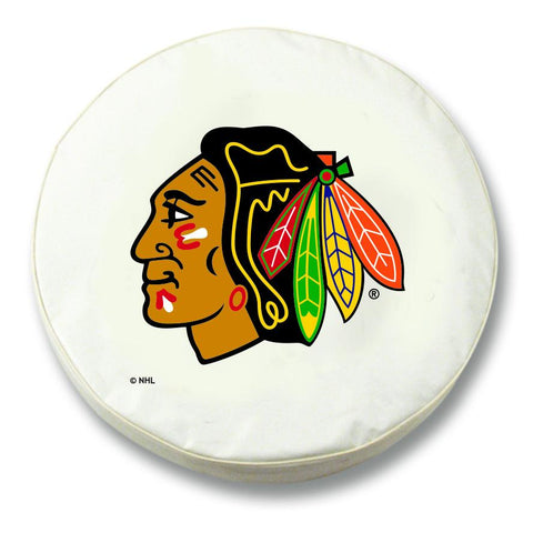 Shop Chicago Blackhawks HBS White Vinyl Fitted Spare Car Tire Cover