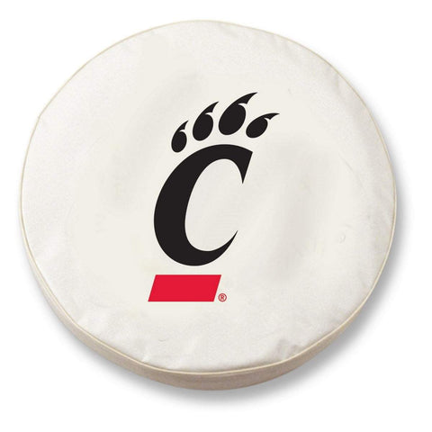 Cincinnati Bearcats HBS White Vinyl Fitted Spare Car Tire Cover