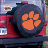 Clemson Tigers HBS Black Vinyl Fitted Spare Car Tire Cover