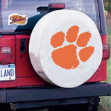 Clemson Tigers HBS White Vinyl Fitted Spare Car Tire Cover