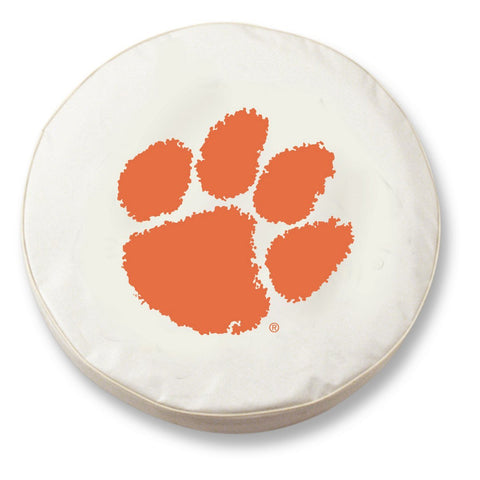 Shop Clemson Tigers HBS White Vinyl Fitted Spare Car Tire Cover