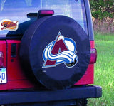 Colorado Avalanche HBS Black Vinyl Fitted Spare Car Tire Cover - Sporting Up