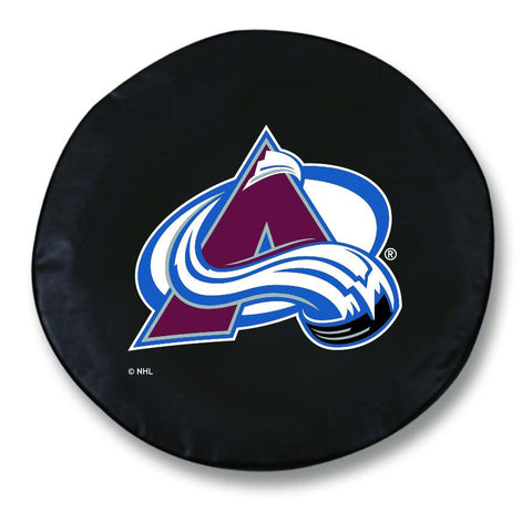 Shop Colorado Avalanche HBS Black Vinyl Fitted Spare Car Tire Cover - Sporting Up