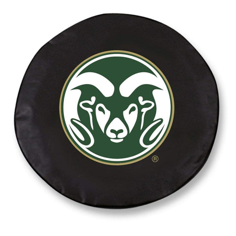 Colorado State Rams HBS Black Vinyl Fitted Spare Car Tire Cover