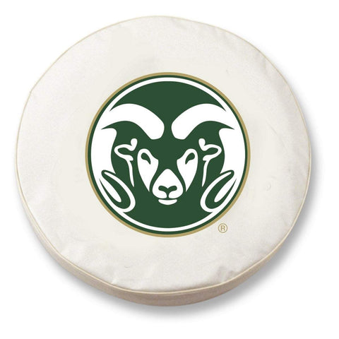 Colorado State Rams HBS White Vinyl Fitted Spare Car Tire Cover