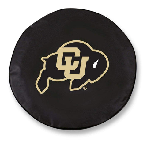 Colorado Buffaloes HBS Black Vinyl Fitted Spare Car Tire Cover