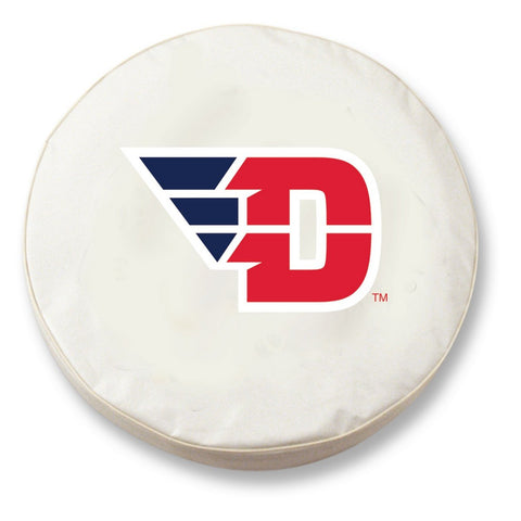 Dayton Flyers HBS White Vinyl Fitted Spare Car Tire Cover