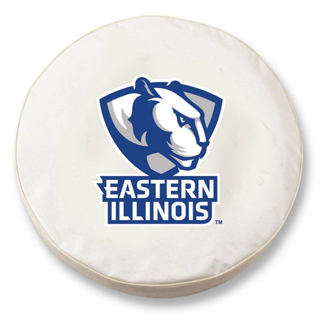 Eastern Illinois Panthers HBS White Vinyl Fitted Car Tire Cover