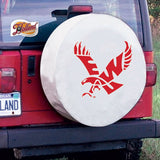 Eastern Washington Eagles HBS White Vinyl Fitted Car Tire Cover - Sporting Up