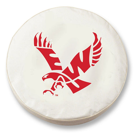 Shop Eastern Washington Eagles HBS White Vinyl Fitted Car Tire Cover - Sporting Up