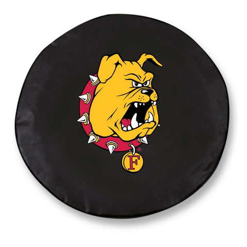 Ferris State Bulldogs HBS Black Vinyl Fitted Car Tire Cover - Sporting Up