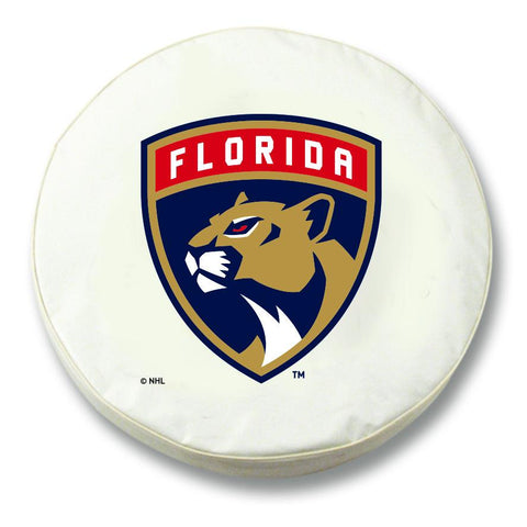 Florida Panthers HBS White Vinyl Fitted Spare Car Tire Cover