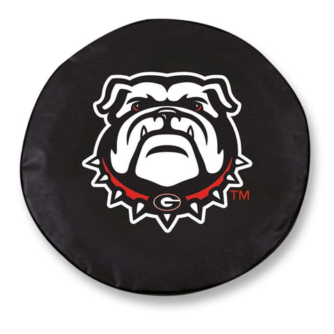 Georgia Bulldogs HBS Dog Black Vinyl Fitted Spare Car Tire Cover