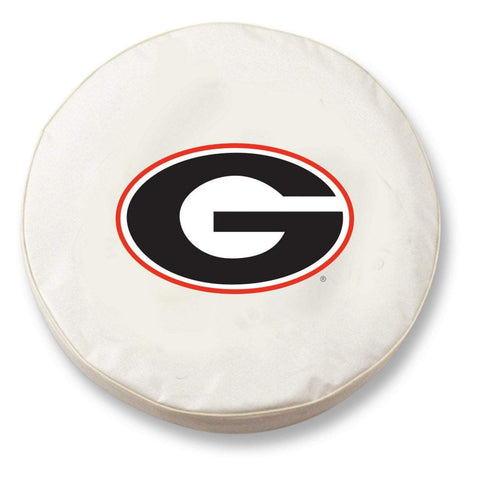 "Georgia Bulldogs HBS ""G""White Vinyl Fitted Spare Car Tire Cover"