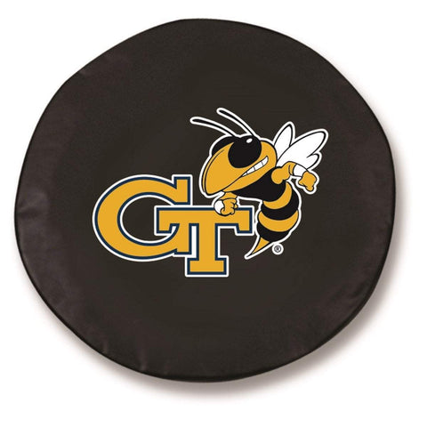 Georgia Tech Yellow Jackets HBS Black Fitted Car Tire Cover