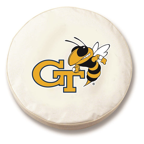 Georgia Tech Yellow Jackets HBS White Fitted Car Tire Cover