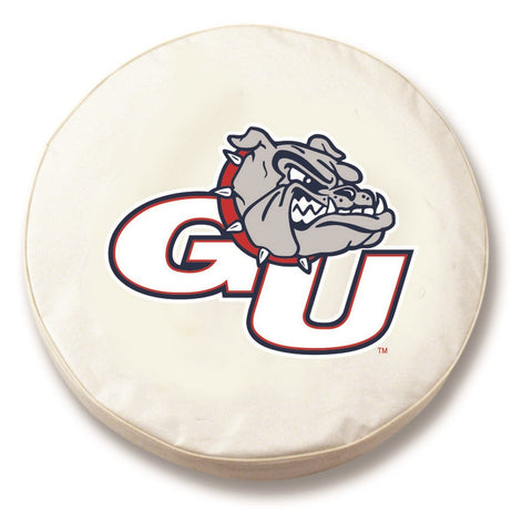 Gonzaga Bulldogs HBS White Vinyl Fitted Spare Car Tire Cover