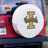 Idaho Vandals HBS White Vinyl Fitted Spare Car Tire Cover - Sporting Up