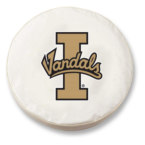 Idaho Vandals HBS White Vinyl Fitted Spare Car Tire Cover