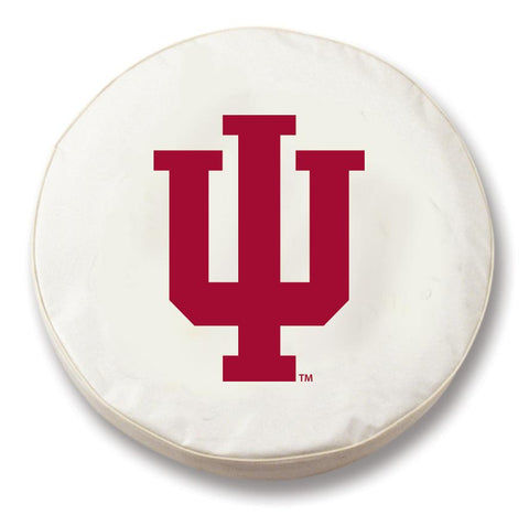 Indiana Hoosiers HBS White Vinyl Fitted Spare Car Tire Cover
