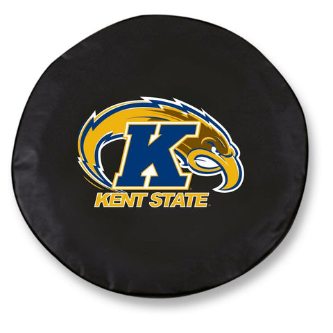 Kent State Golden Flashes HBS Black Vinyl Fitted Car Tire Cover - Sporting Up