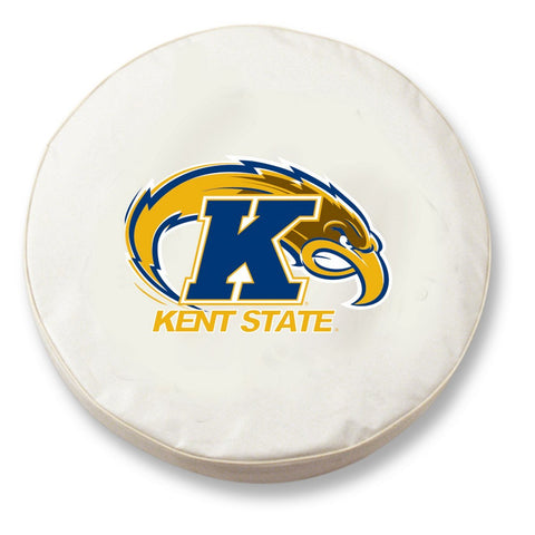 Kent State Golden Flashes HBS White Vinyl Fitted Car Tire Cover