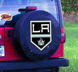 Los Angeles Kings HBS Black Vinyl Fitted Spare Car Tire Cover - Sporting Up