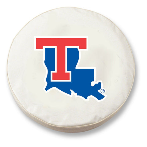 Louisiana Tech Bulldogs HBS White Vinyl Fitted Car Tire Cover