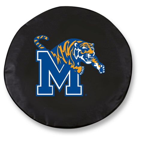 Memphis Tigers HBS Black Vinyl Fitted Spare Car Tire Cover - Sporting Up