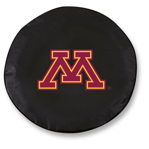 Minnesota Golden Gophers HBS Black Vinyl Fitted Car Tire Cover - Sporting Up