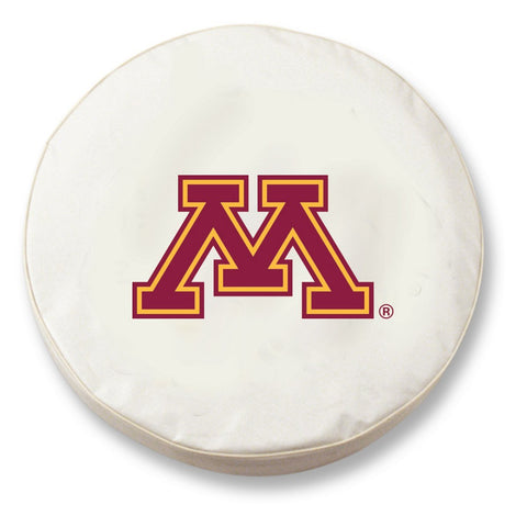 Minnesota Golden Gophers HBS White Vinyl Fitted Car Tire Cover - Sporting Up