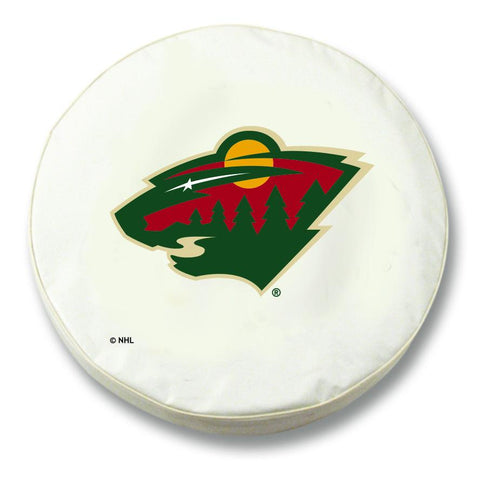 Minnesota Wild HBS White Vinyl Fitted Spare Car Tire Cover