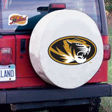 Missouri Tigers HBS White Vinyl Fitted Spare Car Tire Cover