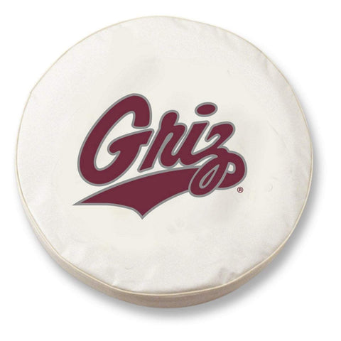 Montana Grizzlies HBS White Vinyl Fitted Spare Car Tire Cover - Sporting Up